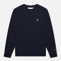 Мужская толстовка Calvin Klein Jeans Embroidered Logo Night Sky/White