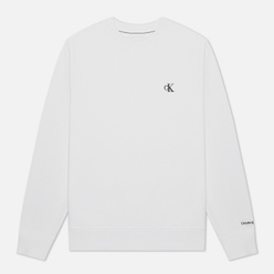 Мужская толстовка Calvin Klein Jeans Embroidered Logo Bright White