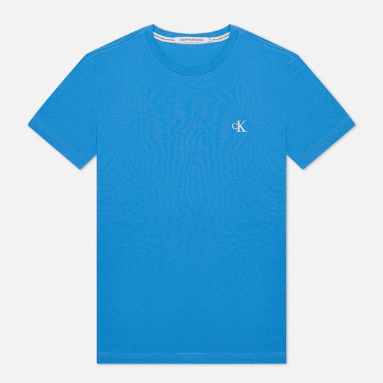 Мужская футболка Calvin Klein Jeans Essential Monogram Logo Meridian Blue