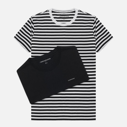 Комплект мужских футболок Calvin Klein Jeans 2 Pack Slim Black Beauty/White Black Stripe