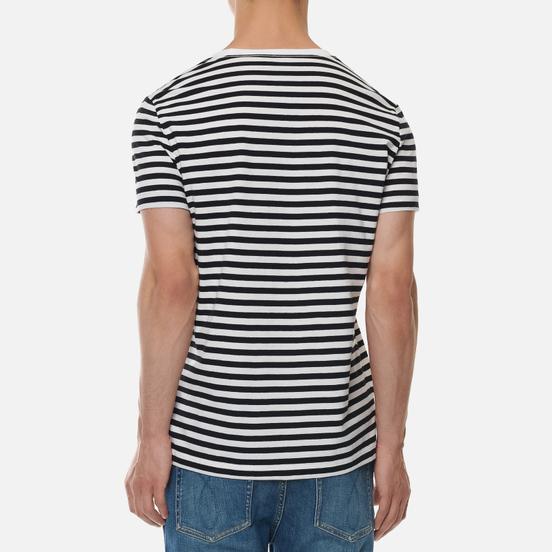 Комплект мужских футболок Calvin Klein Jeans 2 Pack Slim Black Beauty/White Black Stripe