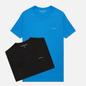 Комплект мужских футболок Calvin Klein Jeans 2 Pack Slim Mesmerizing Blue/ Black фото - 0