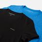 Комплект мужских футболок Calvin Klein Jeans 2 Pack Slim Mesmerizing Blue/ Black фото - 1