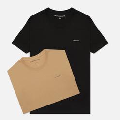 Комплект мужских футболок Calvin Klein Jeans 2 Pack Slim Travertine/Black