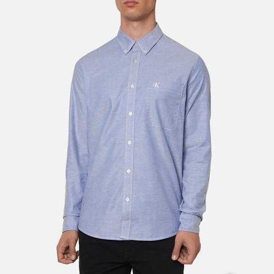 Мужская рубашка Calvin Klein Jeans Chambray Slim Stretch Classic Blue