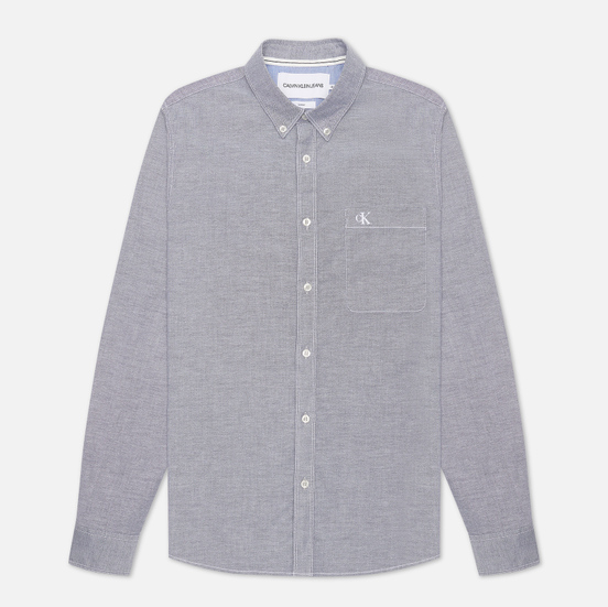 Мужская рубашка Calvin Klein Jeans Chambray Slim Stretch Night Sky