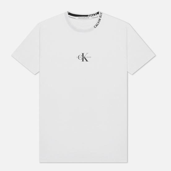 Мужская футболка Calvin Klein Jeans Center Monogram Bright White