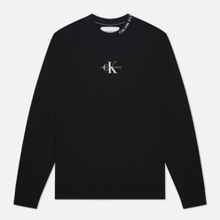 Мужская толстовка Calvin Klein Jeans Center Monogram Crew Neck Black