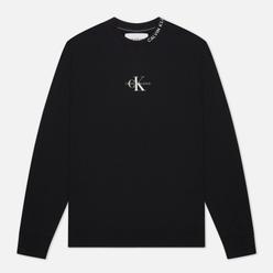 Мужская толстовка Calvin Klein Jeans Center Monogram Crew Neck Black