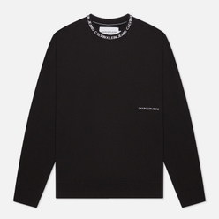 Мужская толстовка Calvin Klein Jeans Institutional Collar Crewneck Black