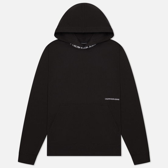 Мужская толстовка Calvin Klein Jeans Subtle Institutional Logo Hoodie Black