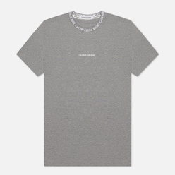 Мужская футболка Calvin Klein Jeans Institutional Collar Logo Mid Grey Heather