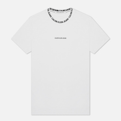 Мужская футболка Calvin Klein Jeans Institutional Collar Logo Bright White
