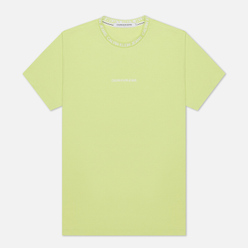 Мужская футболка Calvin Klein Jeans Institutional Collar Logo Safety Yellow