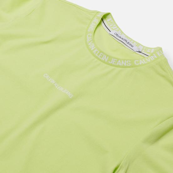 Мужская футболка Calvin Klein Jeans Institutional Collar Logo Safety Yellow