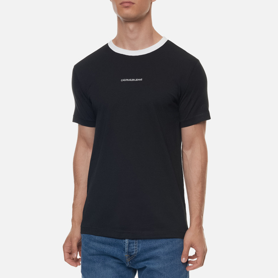 Мужская футболка Calvin Klein Jeans Ringer Black