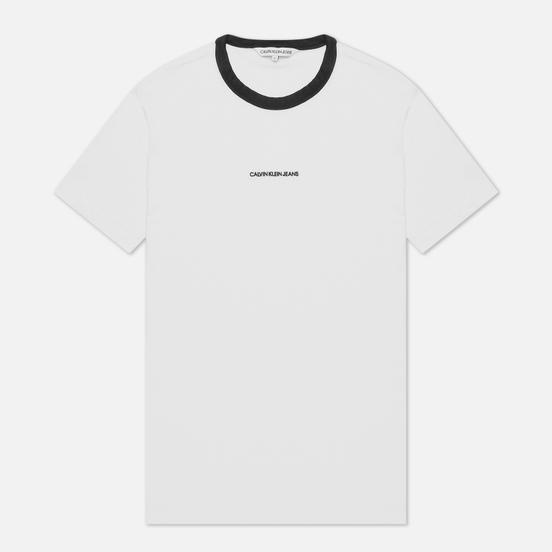 Мужская футболка Calvin Klein Jeans Ringer Bright White