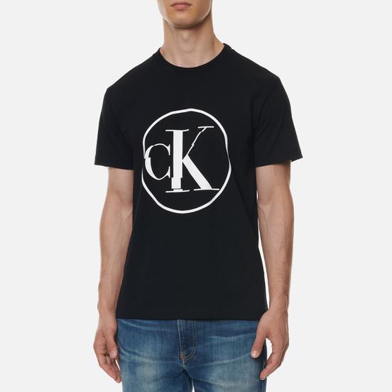 Мужская футболка Calvin Klein Jeans Round Distorted Black