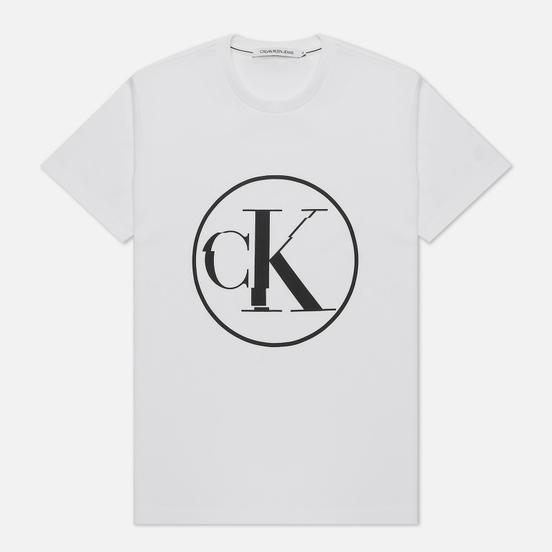 Мужская футболка Calvin Klein Jeans Round Distorted Bright White
