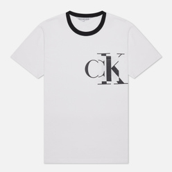 Мужская футболка Calvin Klein Jeans Round Distorted Pocket White
