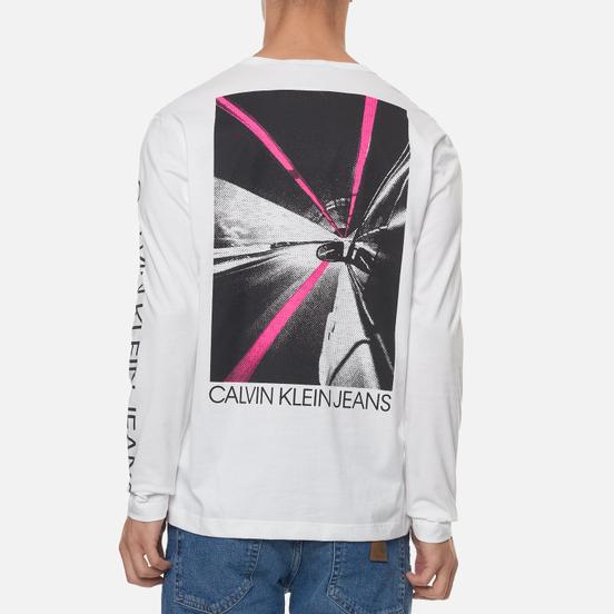 Мужской лонгслив Calvin Klein Jeans Car Photoprint Bright White