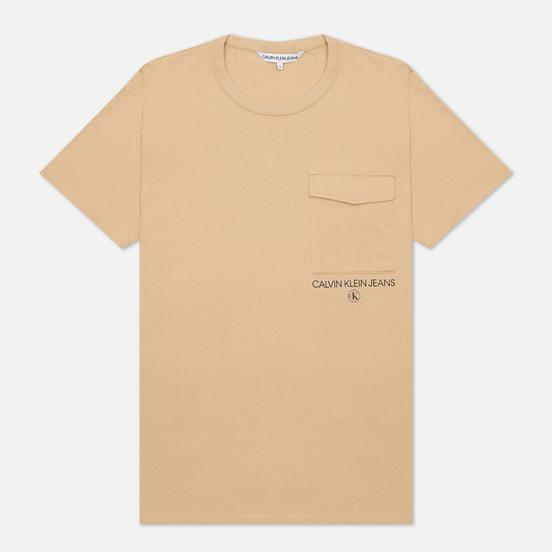 Мужская футболка Calvin Klein Jeans Instit Utility Pocket Irish Cream