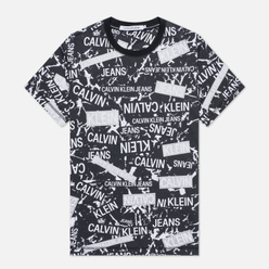 Мужская футболка Calvin Klein Jeans All Over Print Logo Black