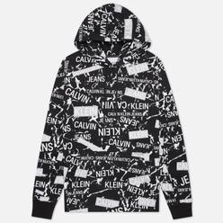 Мужская толстовка Calvin Klein Jeans All Over Print Hoodie Black