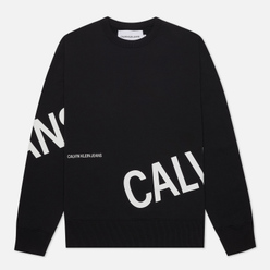 Мужская толстовка Calvin Klein Jeans Stretch Logo Crew Neck Black