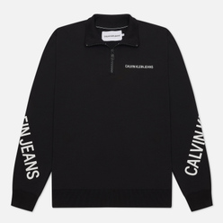 Мужская толстовка Calvin Klein Jeans Stretch Logo Half Zip Black