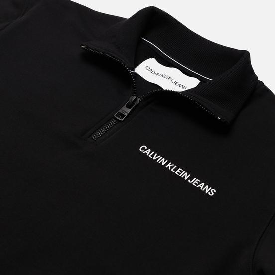 Мужская толстовка Calvin Klein Jeans Stretch Logo Half Zip Black