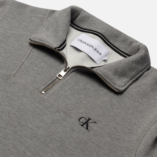 Мужская толстовка Calvin Klein Jeans Essential Mock Neck Mid Grey Heather