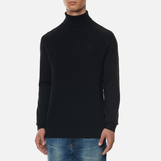 Мужская водолазка Calvin Klein Jeans Text Roll Neck Black