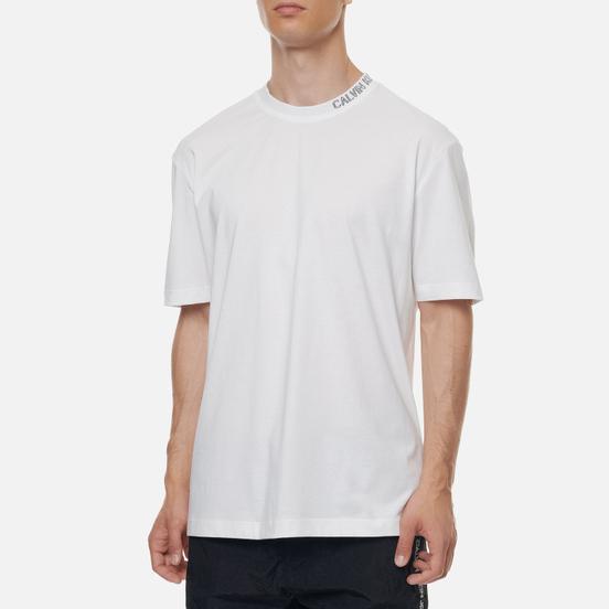 Мужская футболка Calvin Klein Jeans Collar Intarsia Bright White