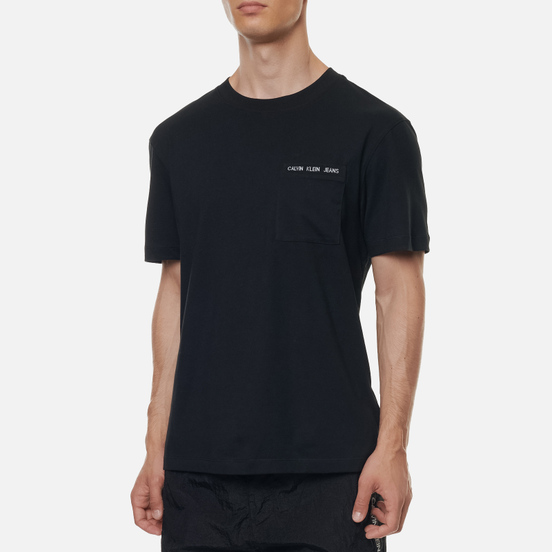 Мужская футболка Calvin Klein Jeans Intarsia Pocket Black