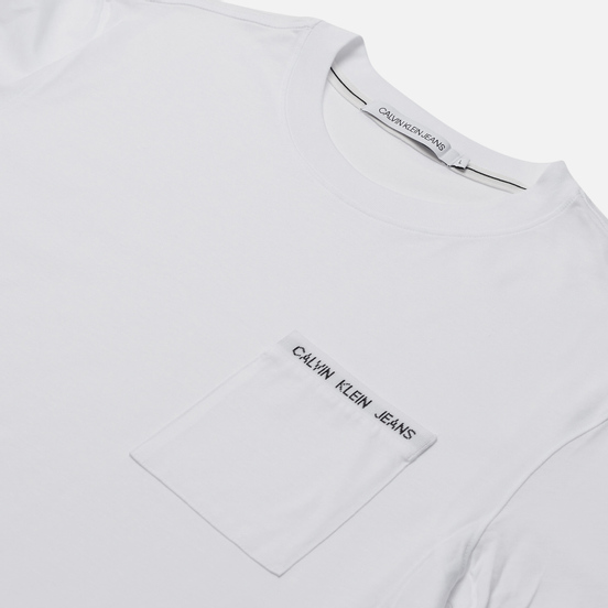 Мужская футболка Calvin Klein Jeans Intarsia Pocket Bright White