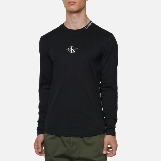 Мужской лонгслив Calvin Klein Jeans Center Monogram Black