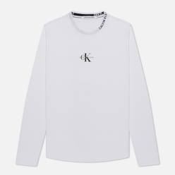 Мужской лонгслив Calvin Klein Jeans Center Monogram Bright White