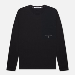 Мужской лонгслив Calvin Klein Jeans Woven Utility Pocket Black