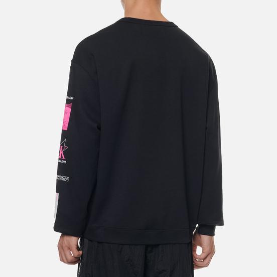 Мужская толстовка Calvin Klein Jeans Sleeve Print Crew Neck Black