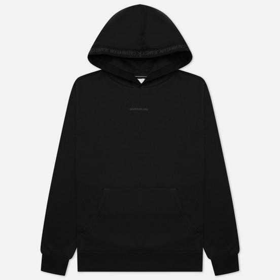 Мужская толстовка Calvin Klein Jeans Organic Cotton Logo Trim Hoodie Black