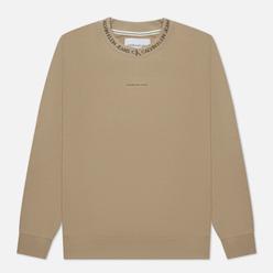 Мужская толстовка Calvin Klein Jeans Logo Jacquard Crew Neck Crockery