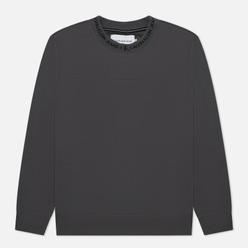 Мужская толстовка Calvin Klein Jeans Logo Jacquard Crew Neck Gray Pinstripe