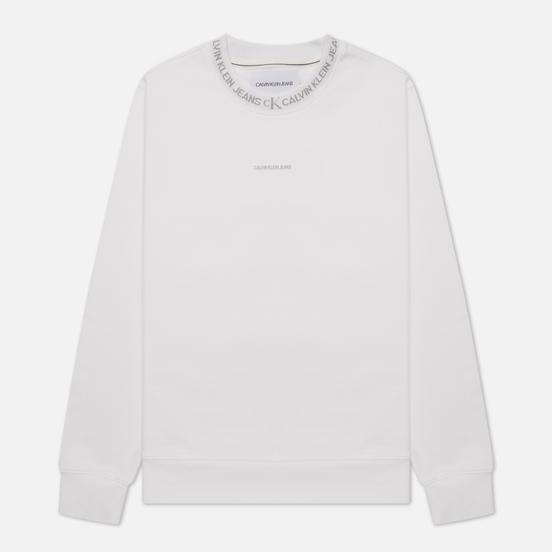 Мужская толстовка Calvin Klein Jeans Logo Jacquard Crew Neck Bright White