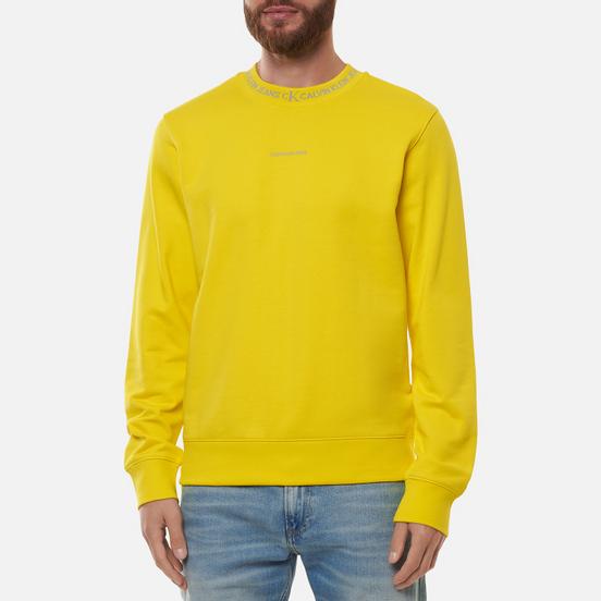 Мужская толстовка Calvin Klein Jeans Logo Jacquard Crew Neck Bright Sunshine