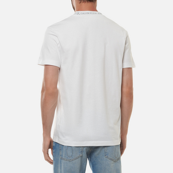 Мужская футболка Calvin Klein Jeans Logo Jacquard Bright White