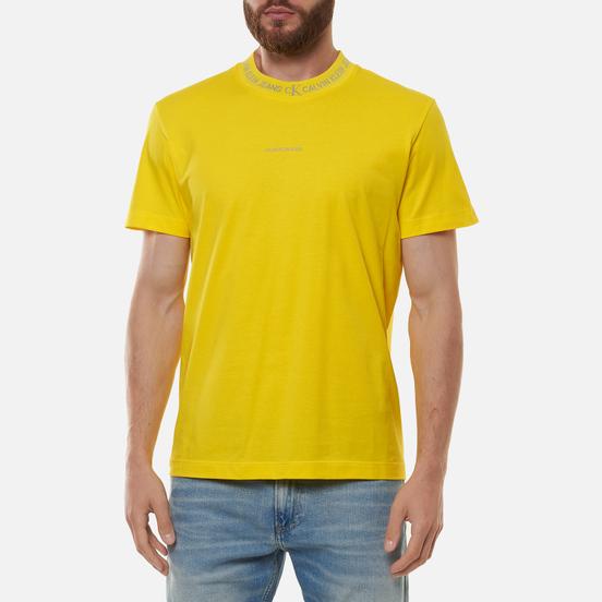 Мужская футболка Calvin Klein Jeans Logo Jacquard Bright Sunshine