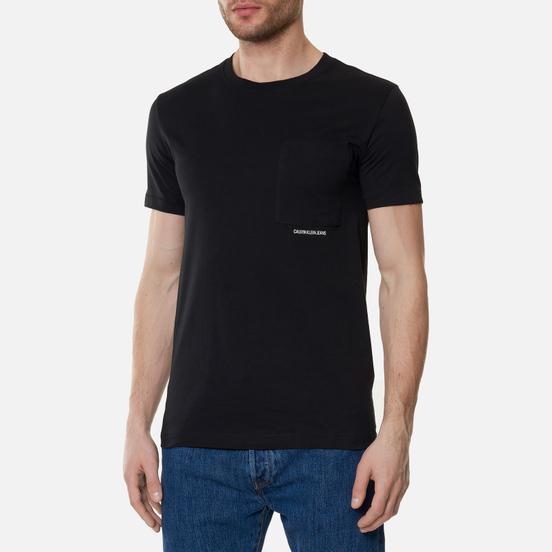 Мужская футболка Calvin Klein Jeans Micro Branding Pocket Black