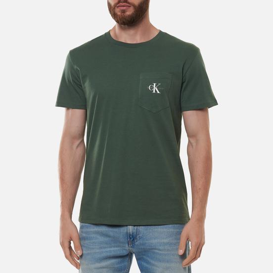 Мужская футболка Calvin Klein Jeans Monogram Pocket Duck Green