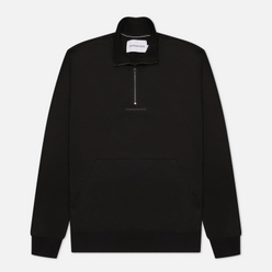 Мужская толстовка Calvin Klein Jeans Logo Jacquard Mock Neck Half-Zip Black